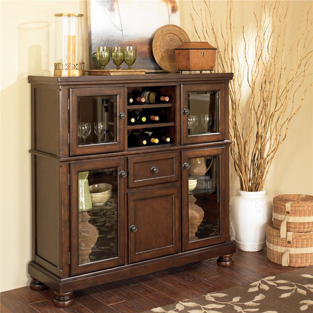 Ashley Furniture Porter Server With Storage Cabinet Olindes Furniture Servers