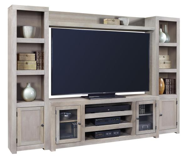 Aspenhome Contemporary Driftwood Entertainment Wall With 4