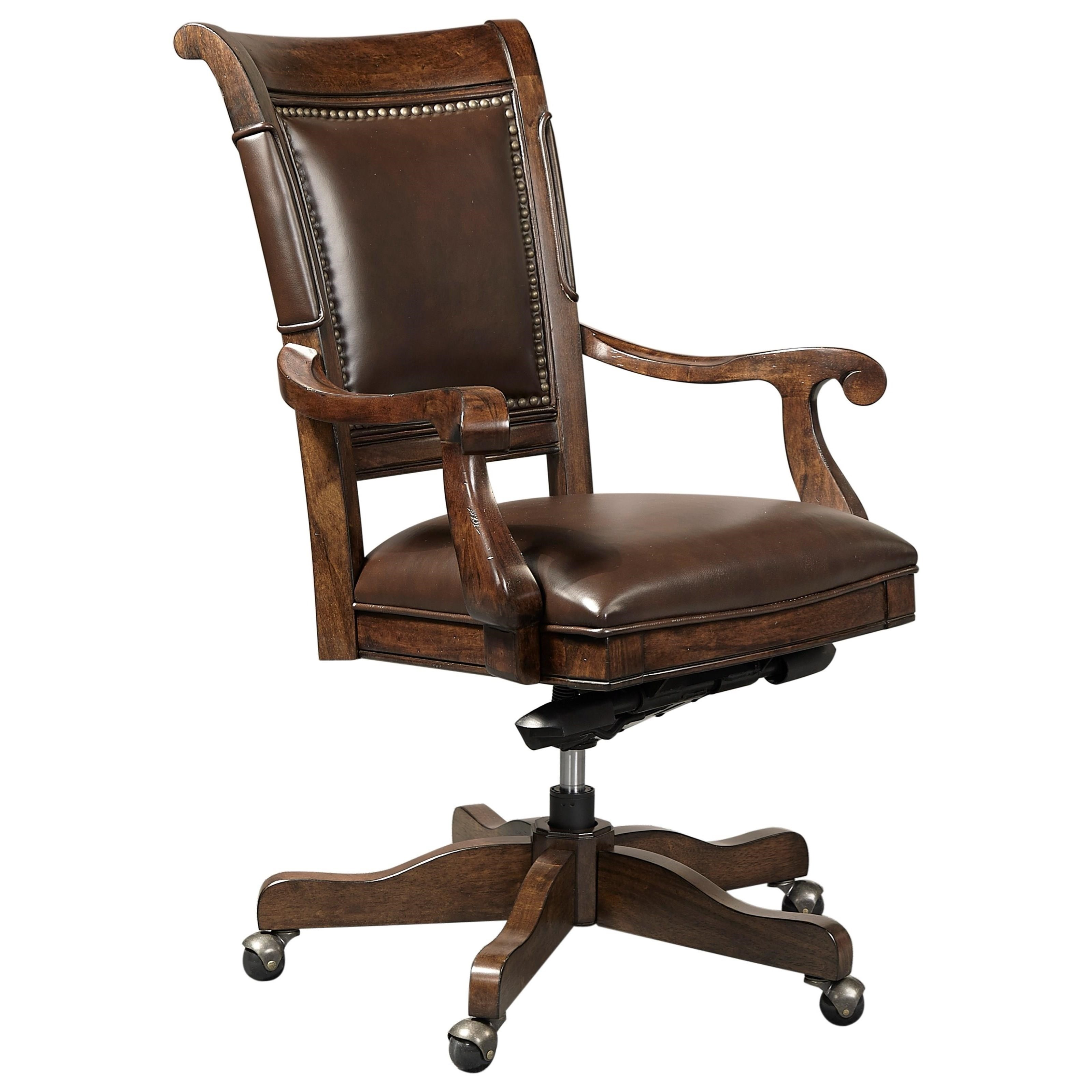 Classic Chair Grand Classic Office Arm Chair With Nailhead Trim By Aspenhome At Dunk Bright Furniture