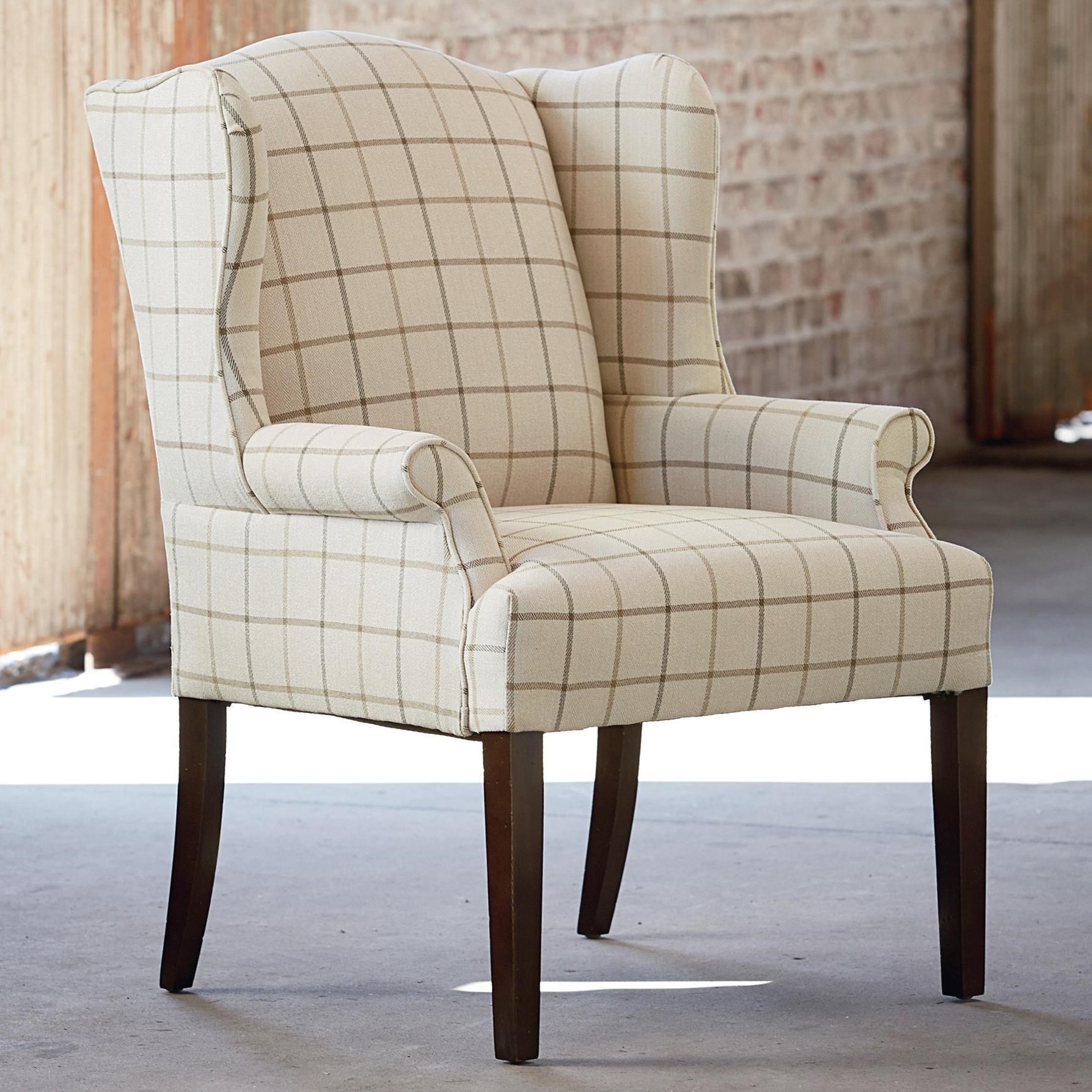 Wingback Dining Room Chairs Bassett Arden 1118 02 Customizable Wing Back Dining Chair Becker