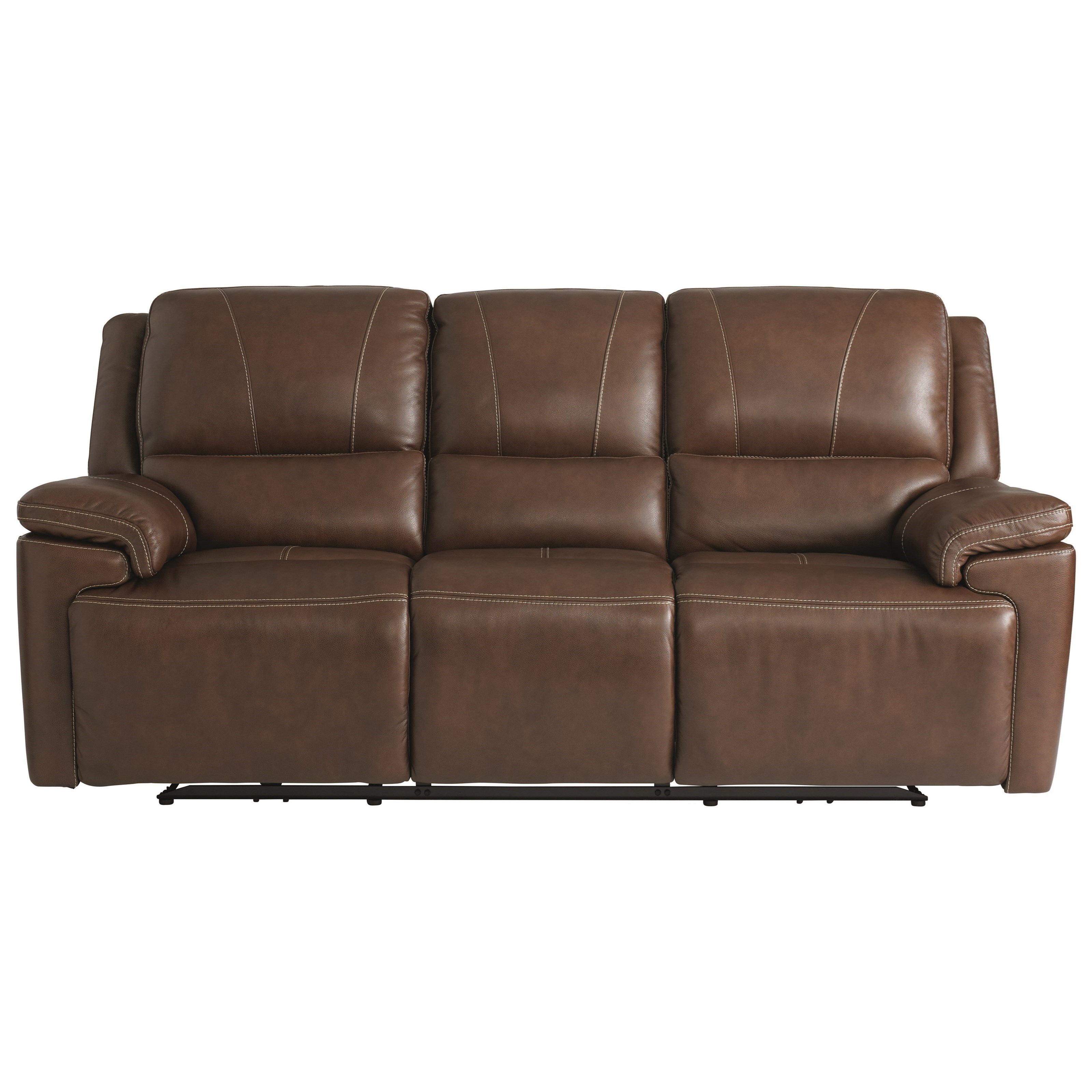 Bassett Club Level Colton 3733 P62x Casual Power Reclining Sofa With Adjustable Headrests And Usb Ports Hudson S Furniture Reclining Sofas