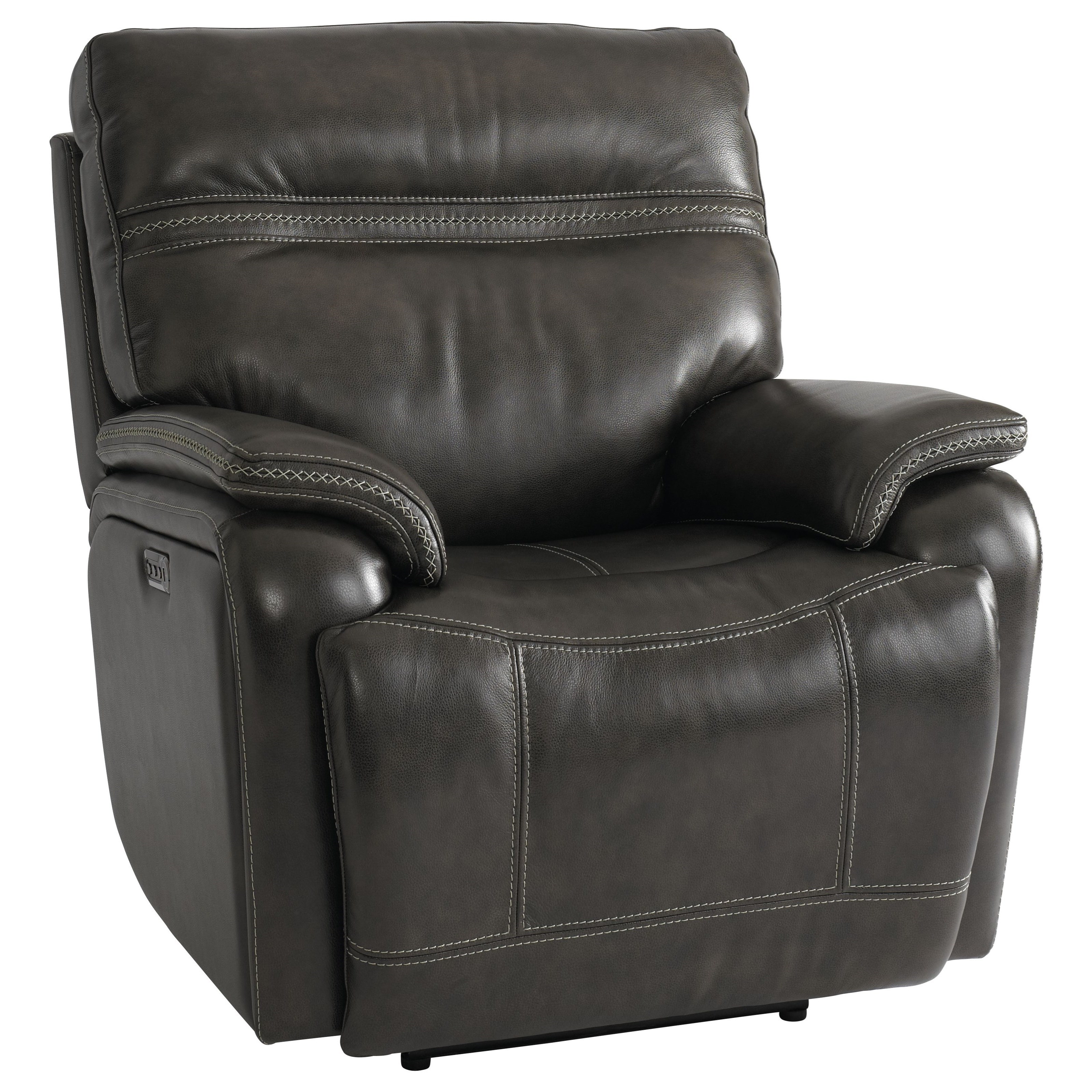 Bassett Club Level Grant Casual Power Wallsaver Recliner With Power Headrest Lumbar And Usb Port Wilcox Furniture Recliners
