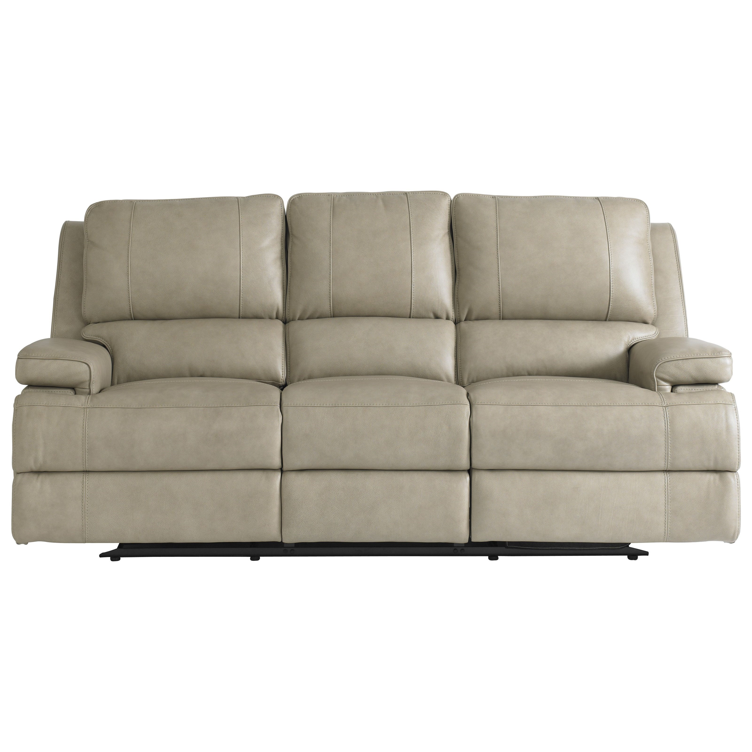 Bassett Parker Club Level 3729 P62f Double Reclining Sofa With Power Headrests Becker Furniture Reclining Sofas