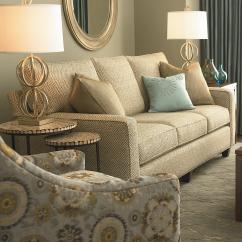 Sleeper Sofas Chicago Il Lazyboy Reclining Bassett Custom Upholstery Medium Scale B Customizable Queen