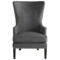 Contemporary Accent Chair Race Gaming Bassett Whitney 1088 02 With Curved Wing