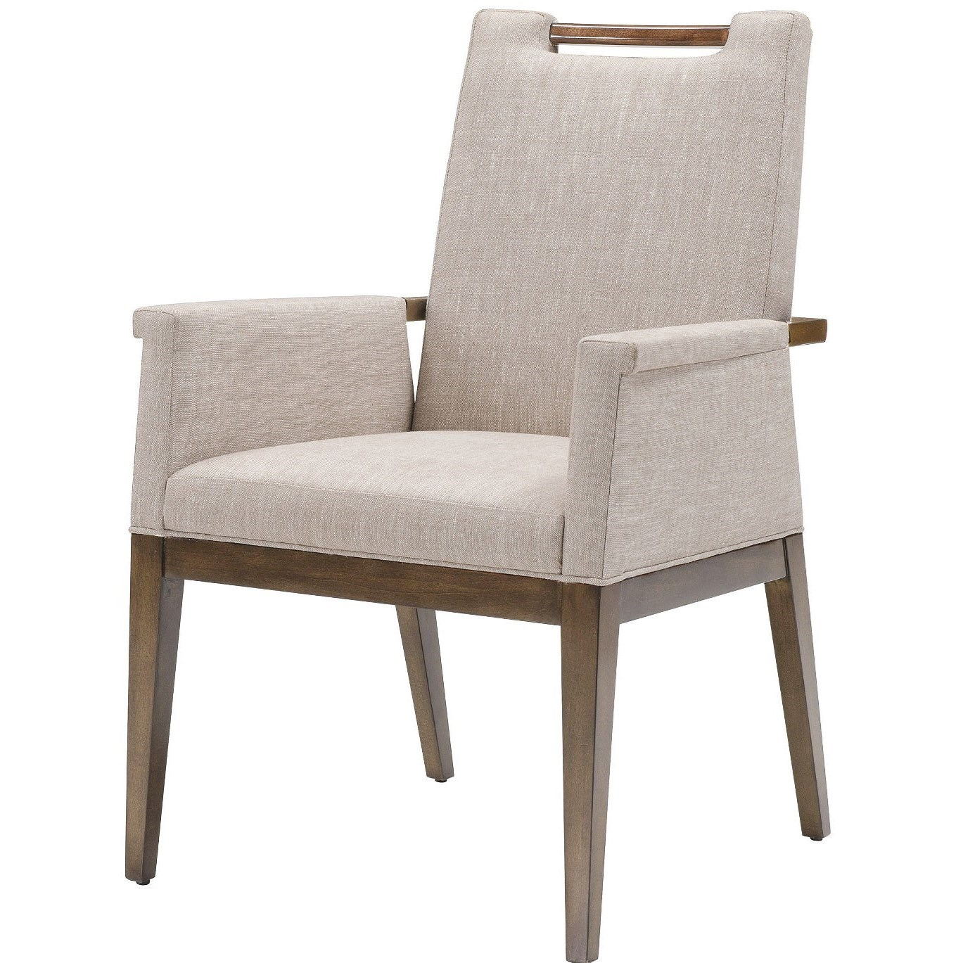 Upholstered Arm Chairs Accent Chairs Liv Upholstered Arm Chair With Exposed Wood By Belle Meade Signature At Jacksonville Furniture Mart