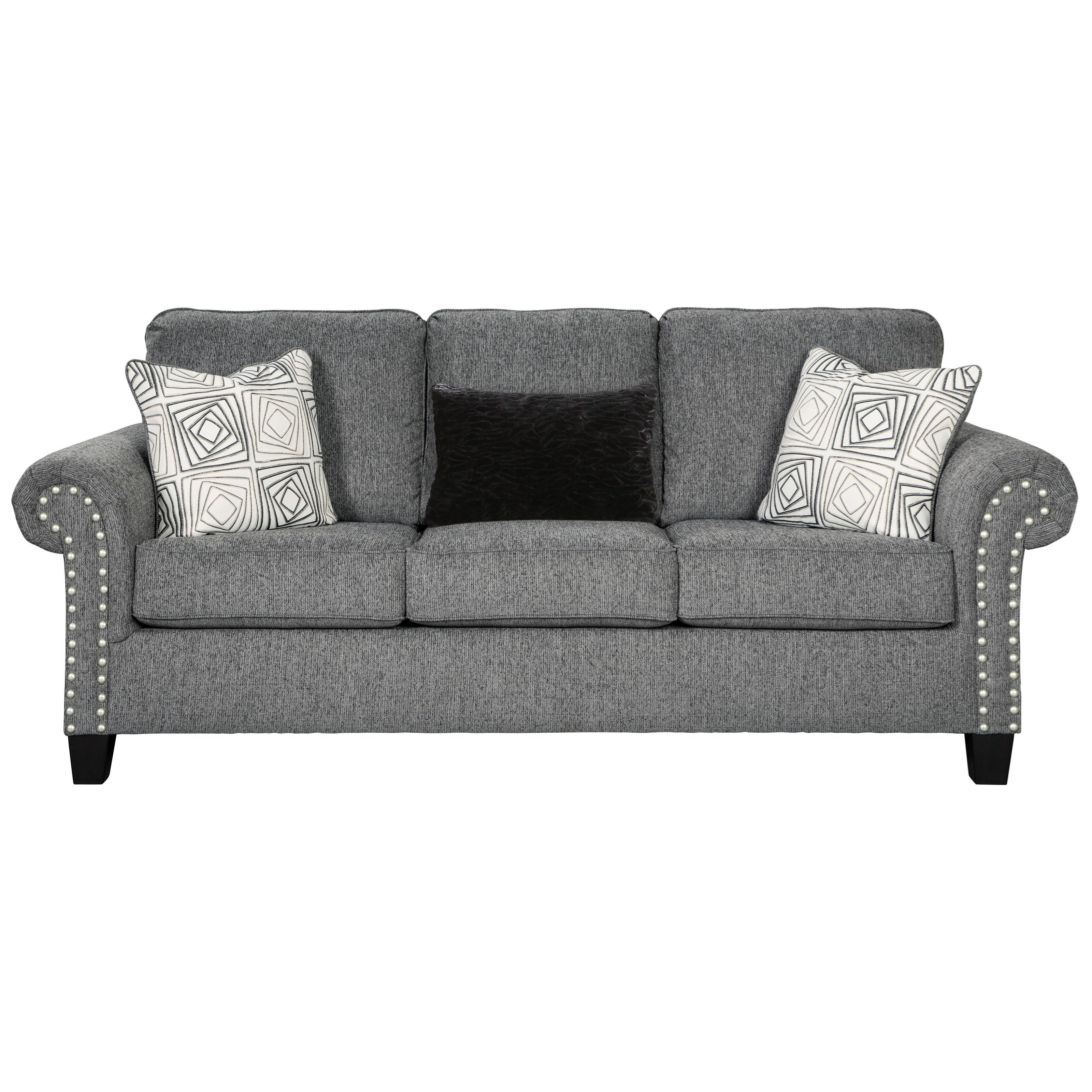 foam sofa sleeper aero fawn benchcraft by ashley agleno queen with memory