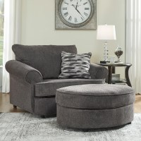 Benchcraft Allouette Chair and a Half & Oval Ottoman in