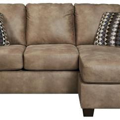 Sofa W Chaise Leather And Fabric In Same Room Trendz Columbus Contemporary Faux Ruby Gordon