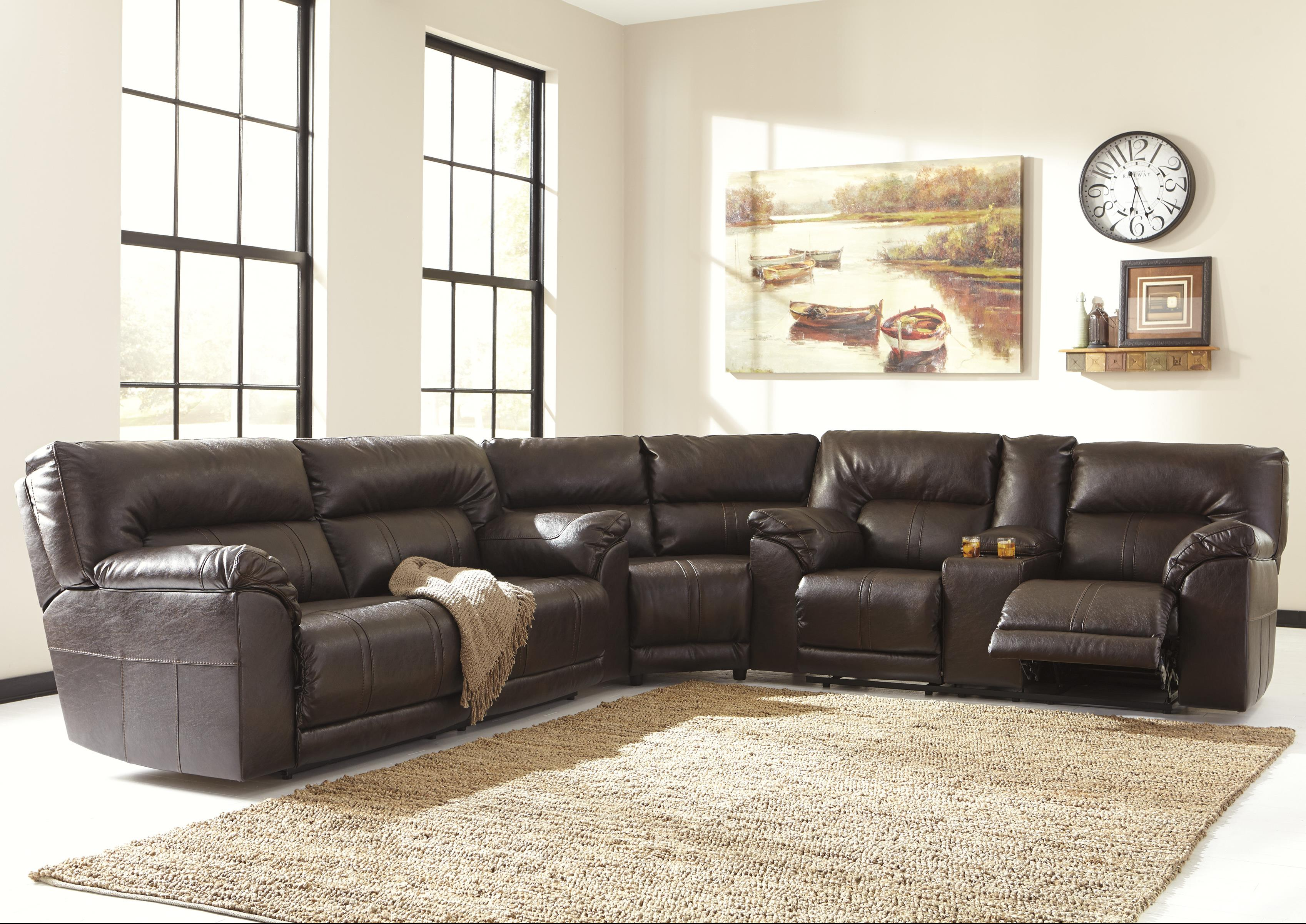 durablend sofa frankfort convertible sectional bed benchcraft barrettsville 3 piece reclining