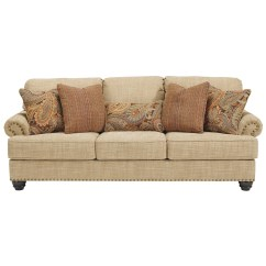 Traditional Sofa Sleeper High End Manufacturers Benchcraft Candoro Queen Size With Nail Head Trim