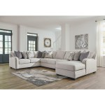 Benchcraft By Ashley Dellara Casual 5 Piece Sectional With Right Chaise Royal Furniture Sectional Sofas
