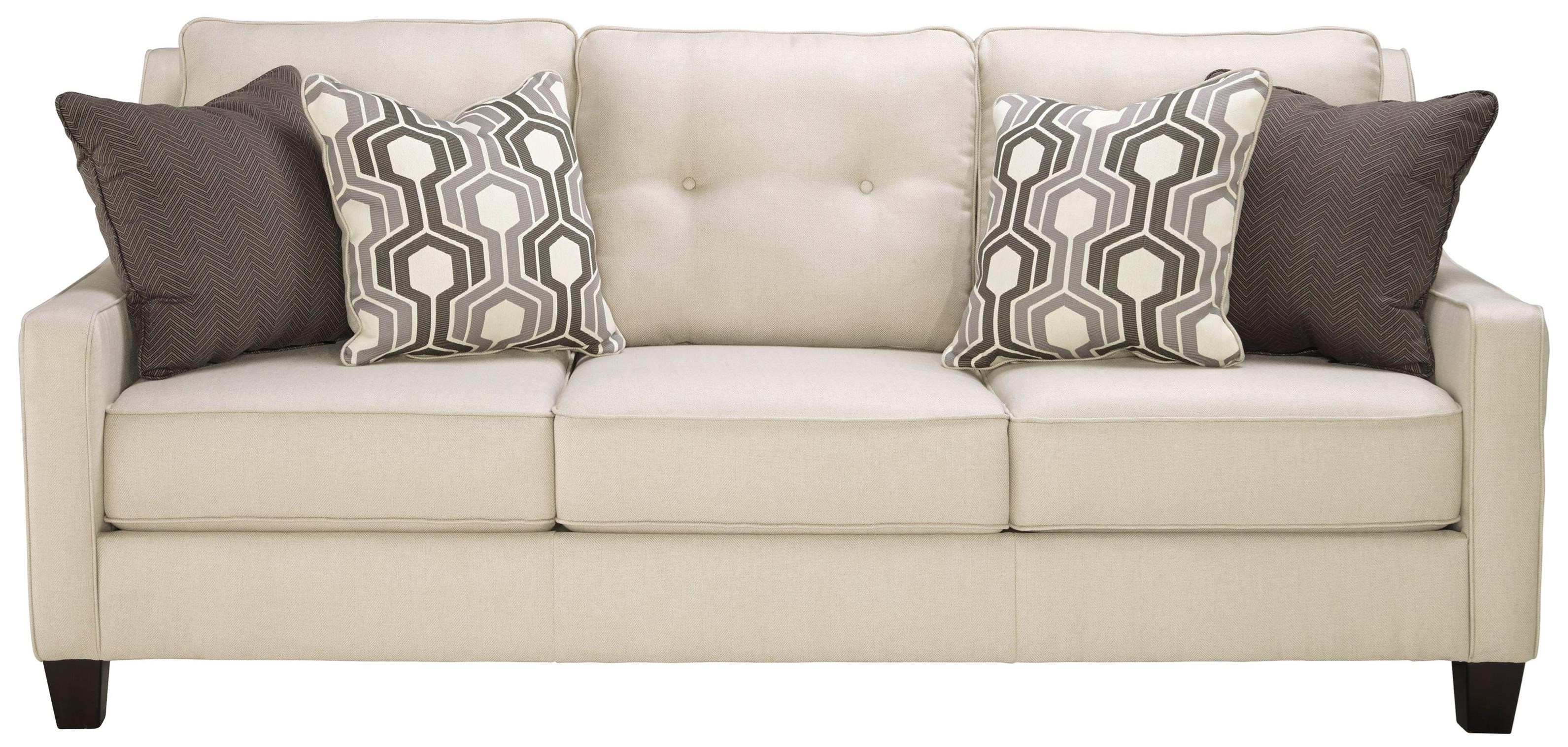 Benchcraft By Ashley Guillerno Contemporary Sofa With Coil