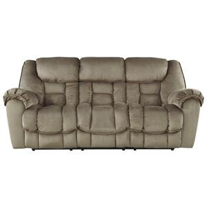 flexsteel capitol double reclining sofa nicole 3 seater compact latitudes - power with ...