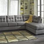 Benchcraft Maier Charcoal 2 Piece Sectional W Sleeper Sofa Right Chaise Wayside Furniture Sectional Sofas