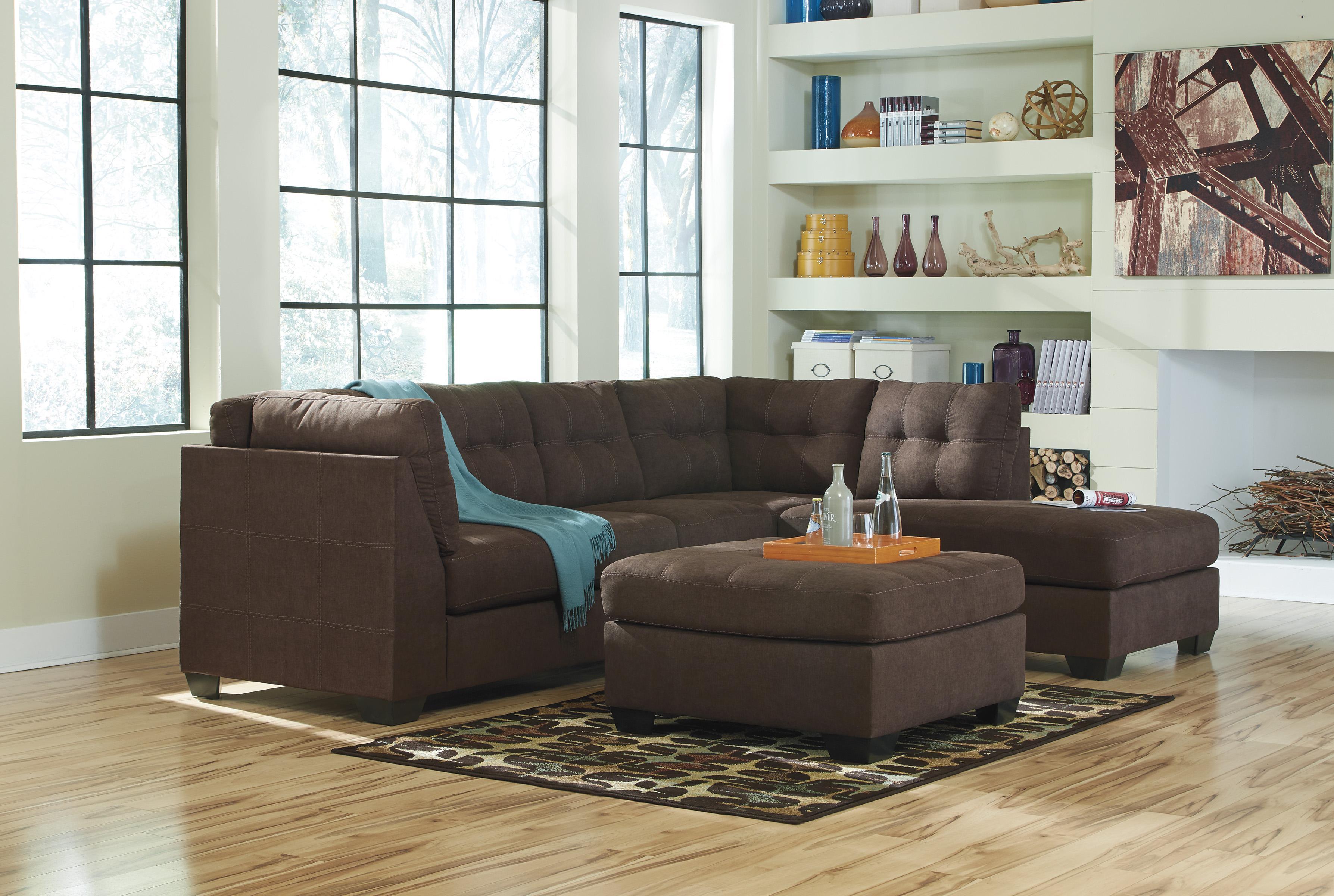 walnut furniture living room hammock benchcraft by ashley maier stationary group