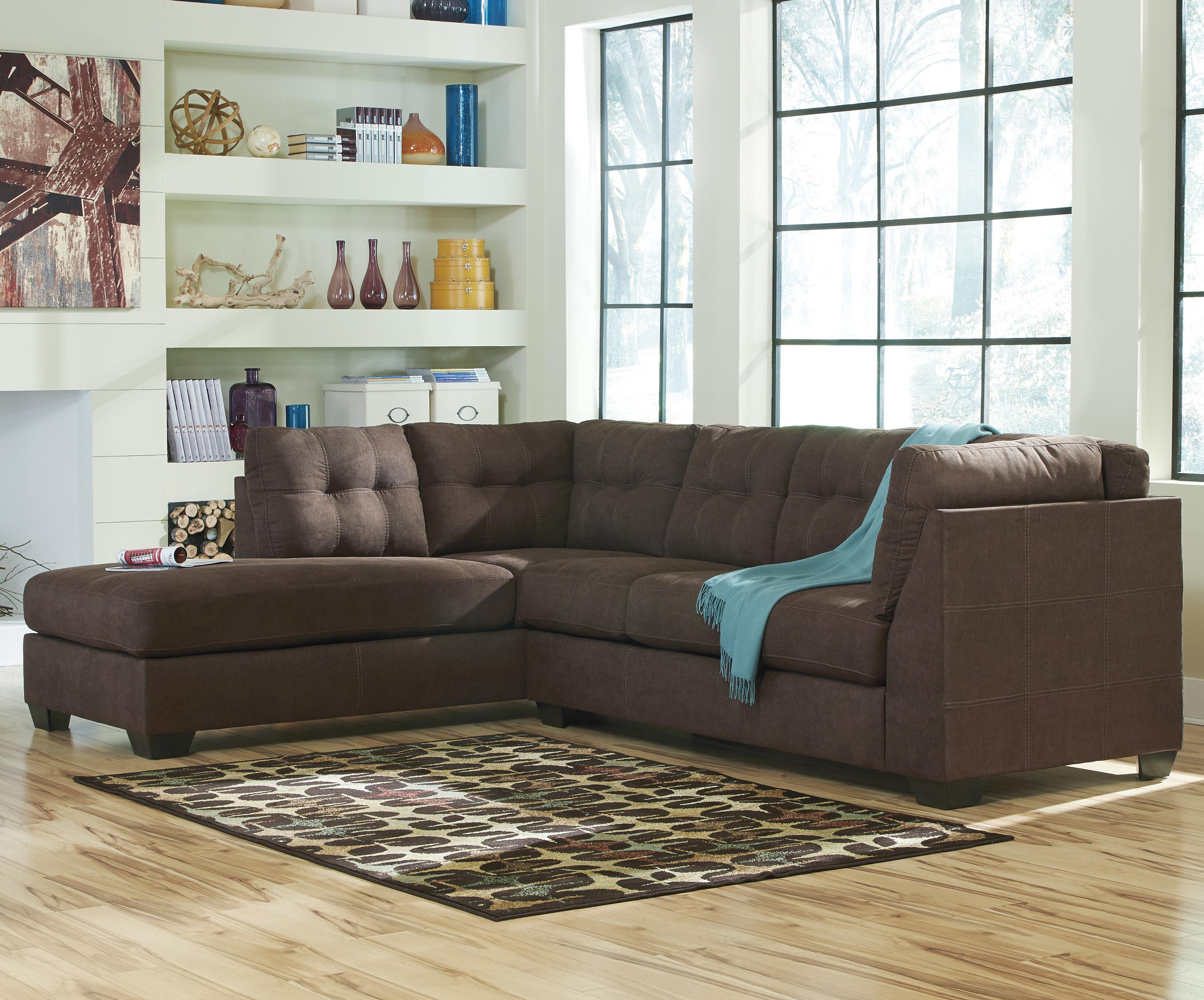 sectional sofas nashville tn charisma sofa benchcraft by ashley maier - walnut 2-piece with ...