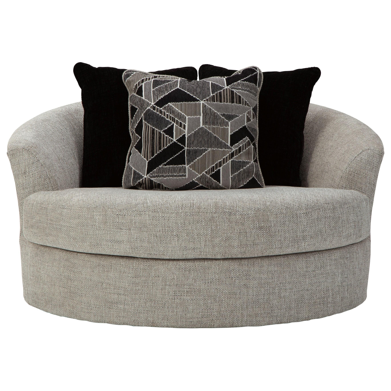 megginson oversized round swivel chair