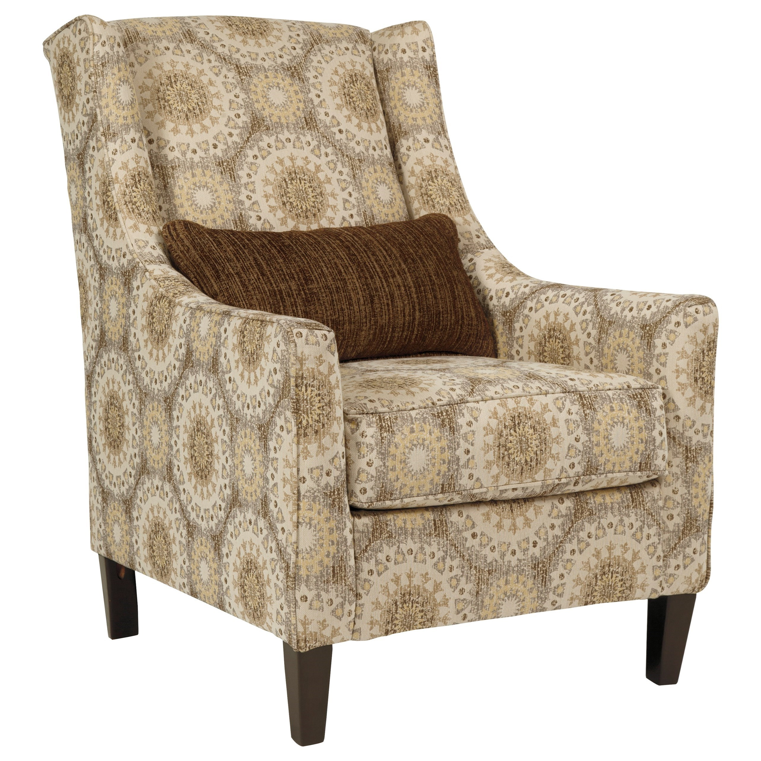 transitional accent chairs chair covers wilko benchcraft quarry hill 3870121 wing back with lumbar item number