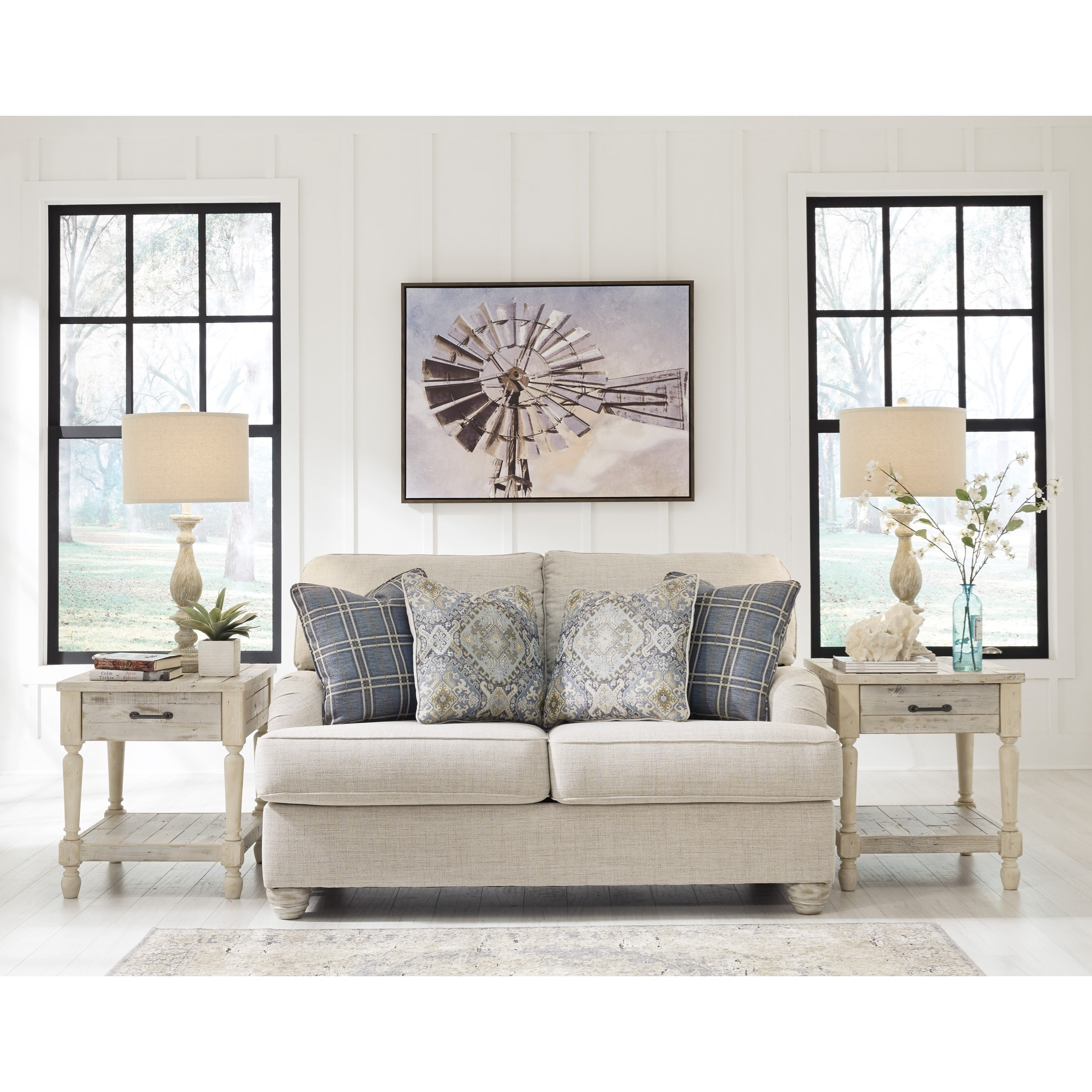 Benchcraft By Ashley Traemore Transitional Loveseat With