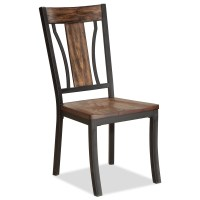 Bernards Hollister Metal and Wood Side Chair | Wayside ...