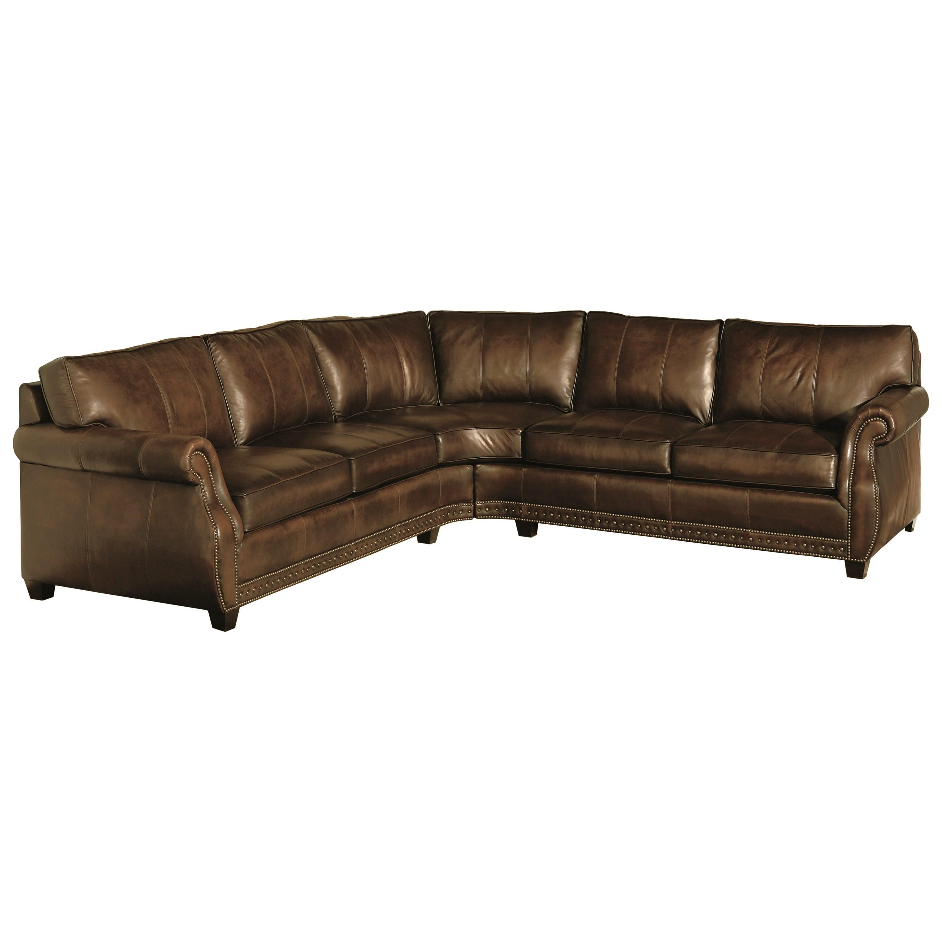 Bernhardt Bradley 1591LO 1592LO Leather Sectional Baer