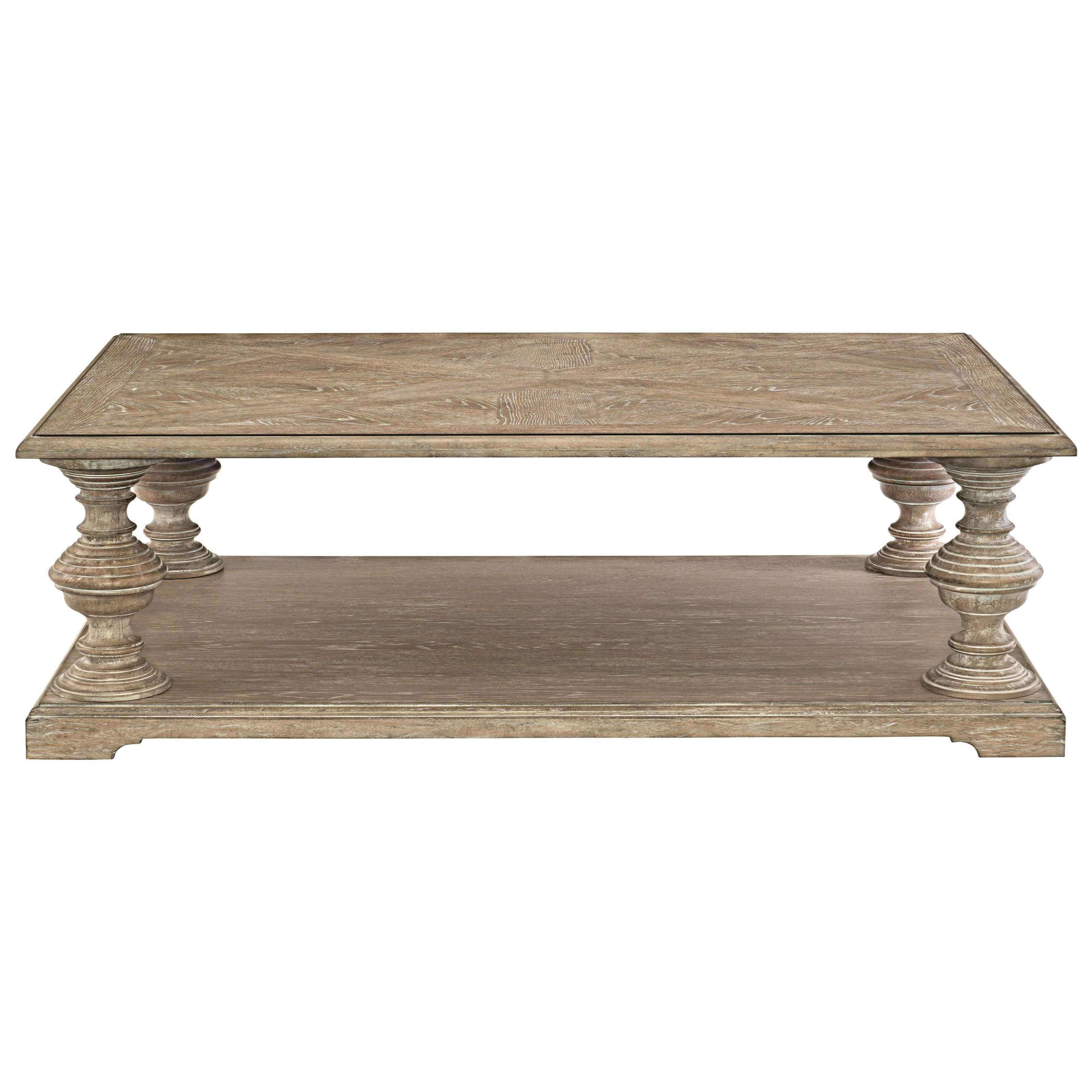 Bernhardt Campania Cocktail Table with Fancy Face Top