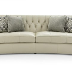 Bernhardt Sofa Leather And Fabric Sectional With Trundle Candace 7277leo 206-200 Transitional ...