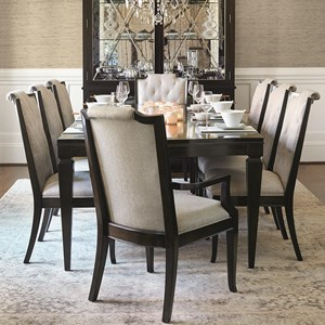 Bernhardt Sutton House 9 Piece Dining Set With Upholstered Chairs Wayside Furniture Dining 7