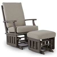 Best Home Furnishings Glider Rockers Glider Ottoman ...