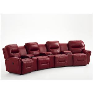 theater chairs home entertainment folding chair qatar seating wayside furniture 4 seater power reclining group