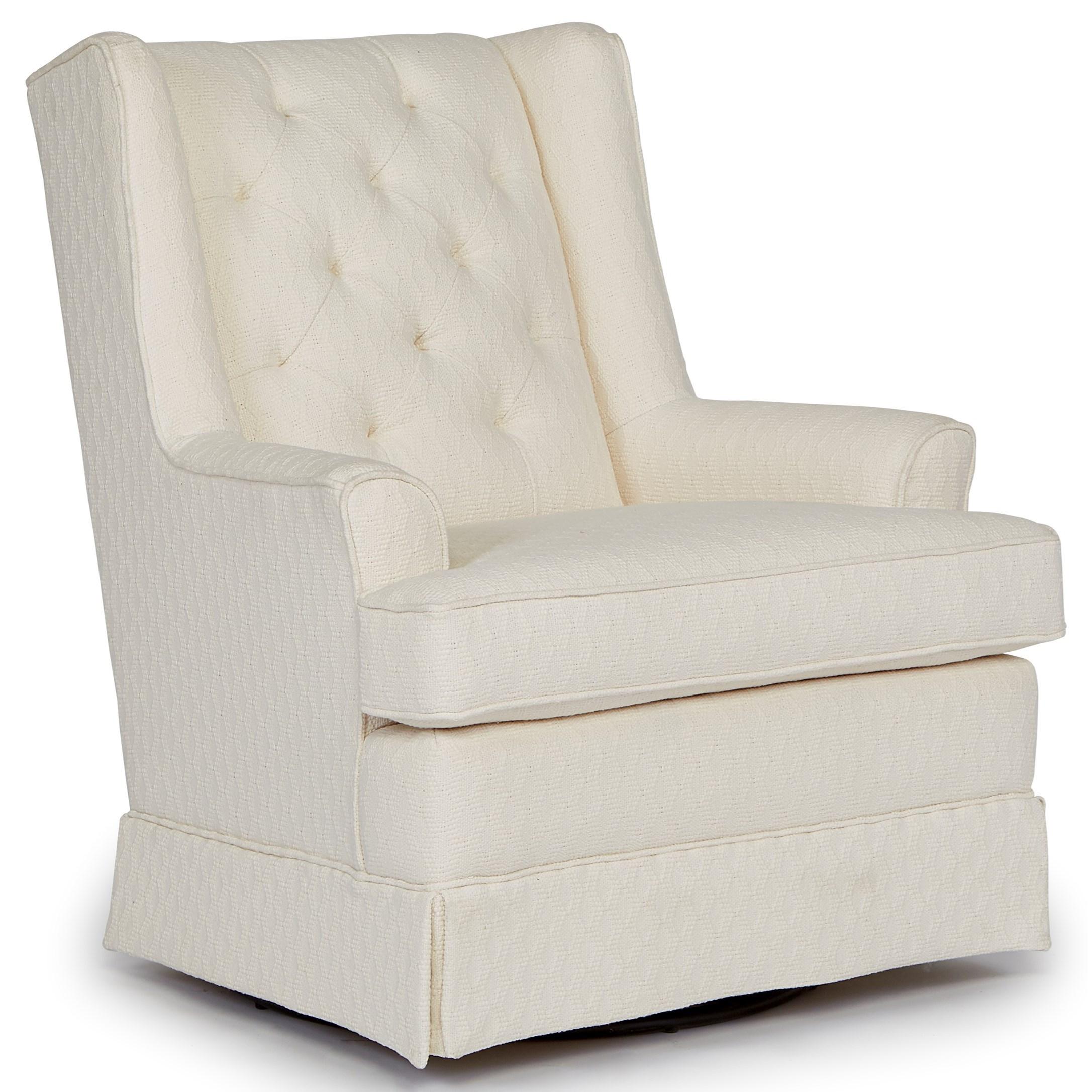 Best Home Furnishings Chairs  Swivel Glide 7167 Nikole