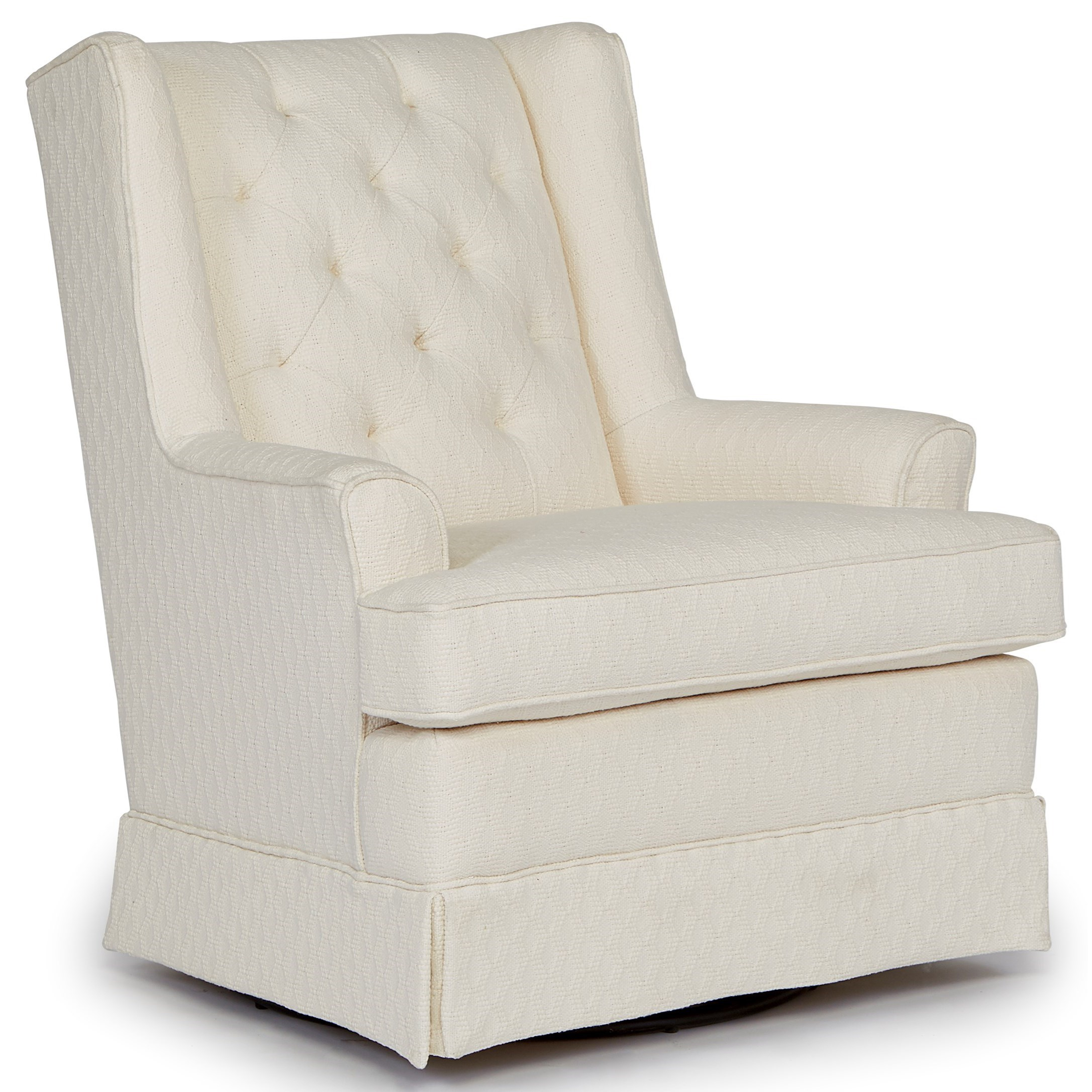 best chairs swivel glider royal chair covers home furnishings glide 7167 nikole skirted by
