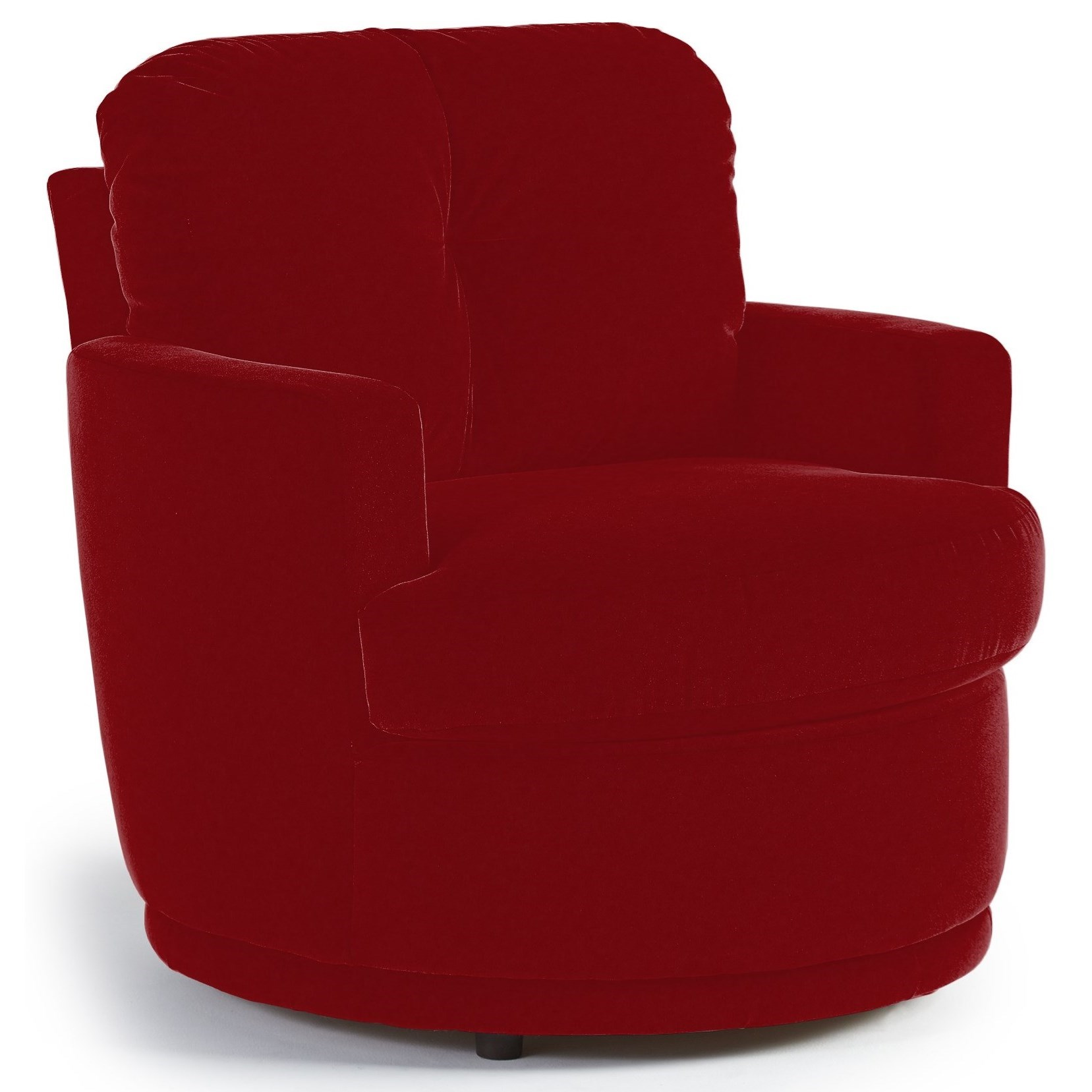 Plush Chairs Best Home Furnishings Chairs Swivel Barrel Skipper Swivel Chair