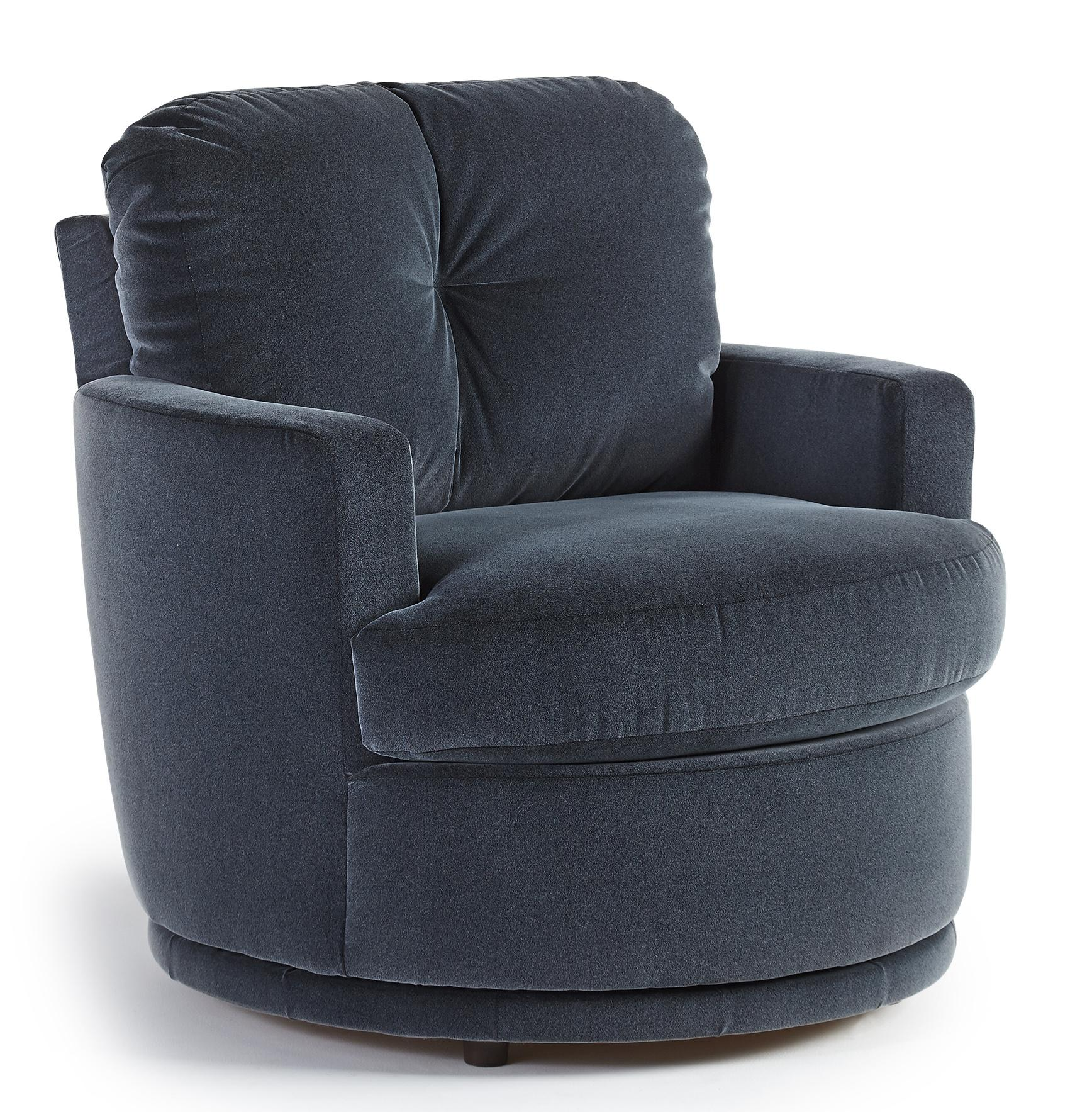 Plush Chairs Chairs Swivel Barrel Skipper Swivel Chair With Plush Tufted Back By Best Home Furnishings At Darvin Furniture