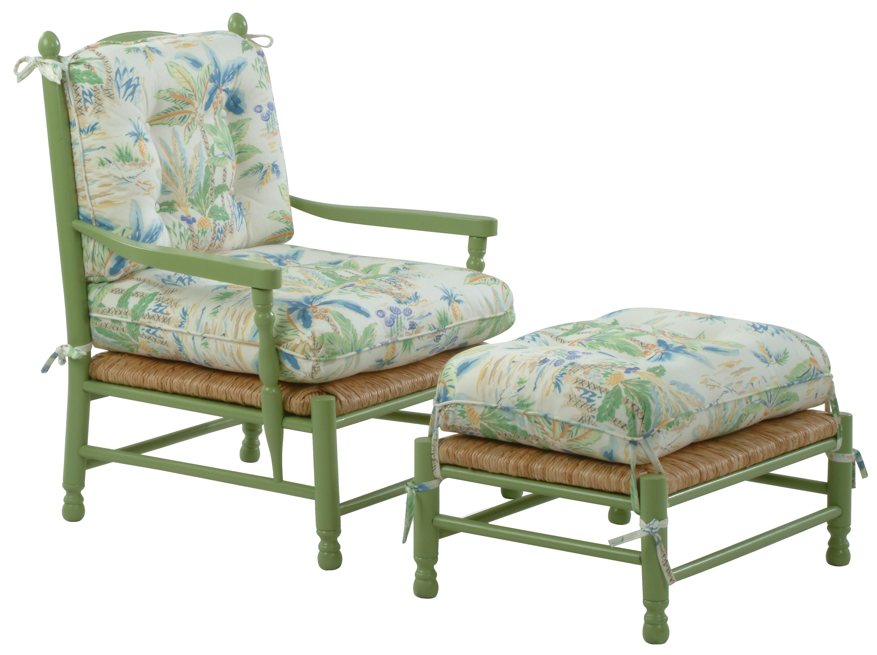 cottage style chairs wedding for bride and groom braxton culler accent coastal vineyard chair ottoman set