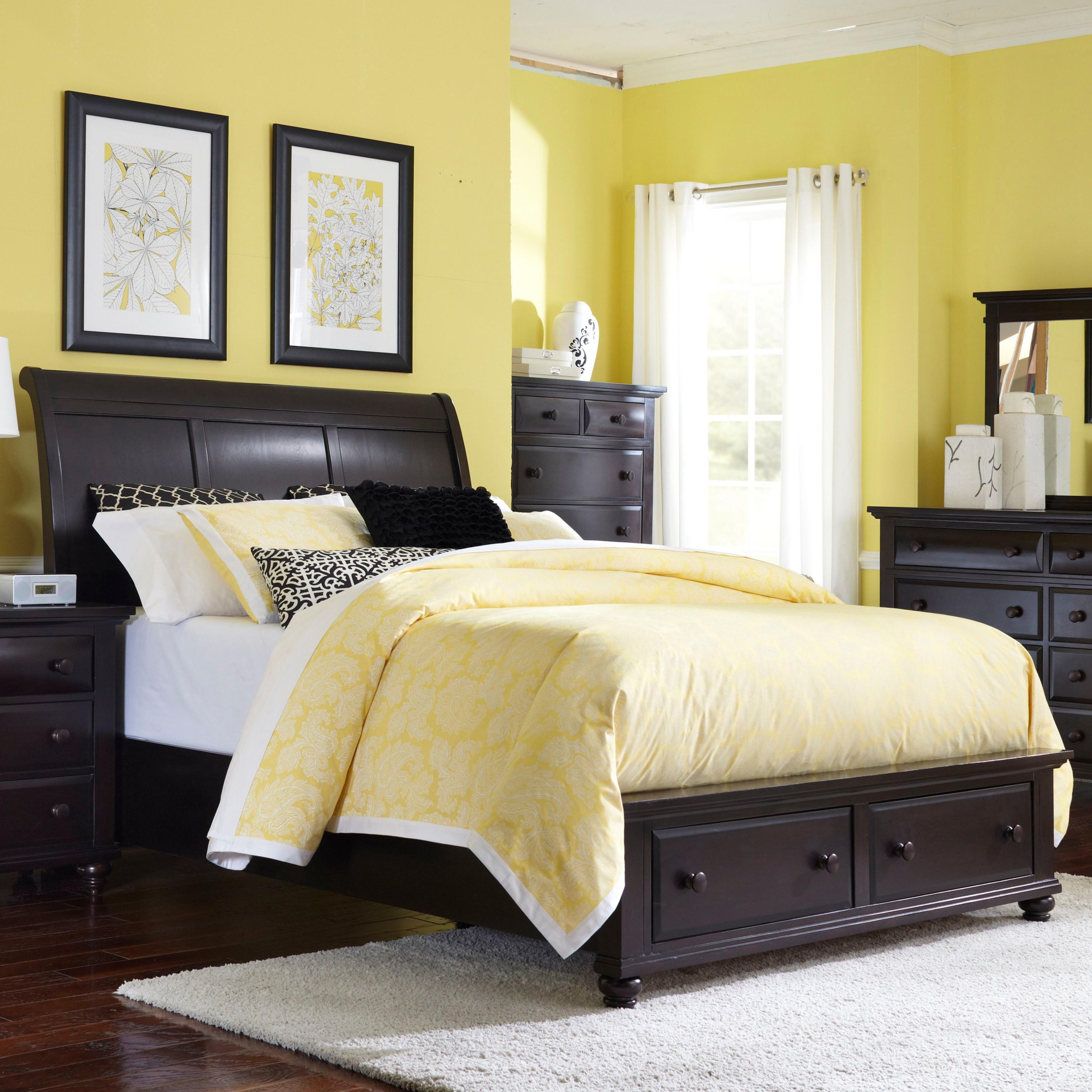 Broyhill Furniture Farnsworth King Sleigh Bed With Storage Fmg Local Home Furnishing Sleigh Beds