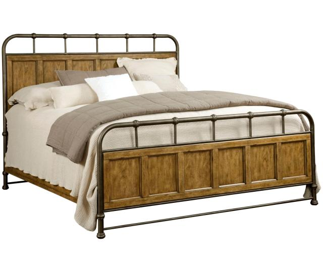 Broyhill Furniture New Vintage Queen Metal and Wood Bedstead