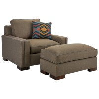 Broyhill Furniture Rocco Chair & 1/2 and Ottoman with ...
