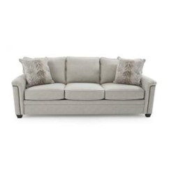 Broyhill Sleeper Sofa Suede Slipcover Sure Fit Furniture Travis S7004 7a Transitional Queen Air Dream Warren W Goodnight Mattress