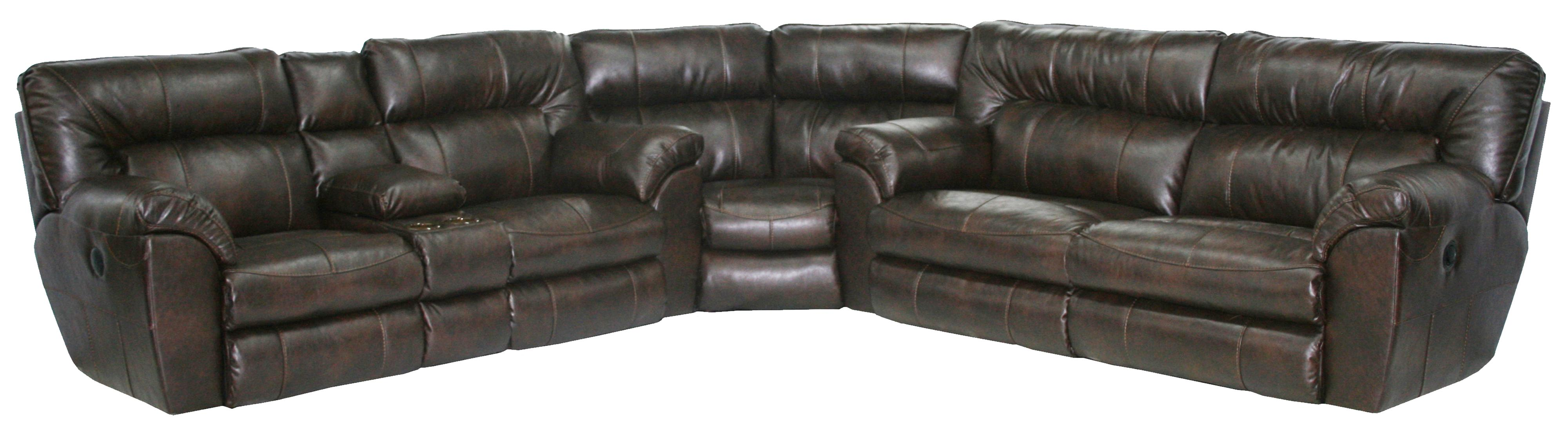 Maverick Power Reclining Sectional With Left Console