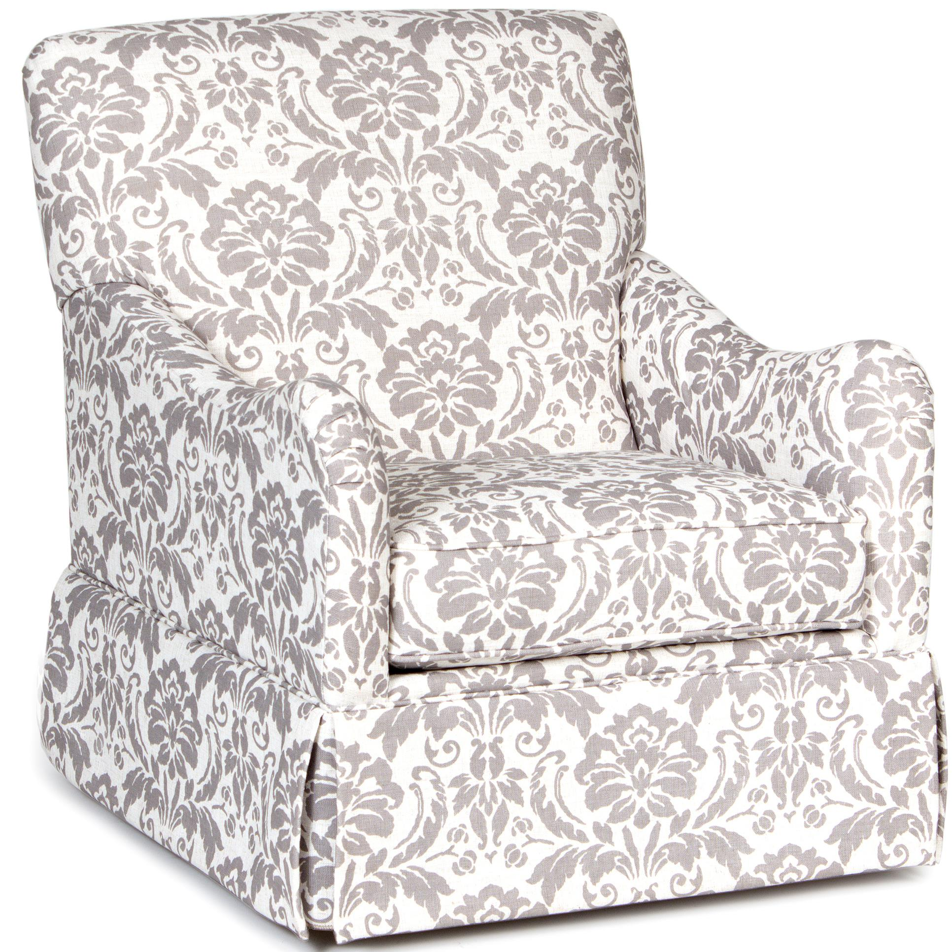Chairs America Accent Chairs And Ottomans Traditional Glider Accent Chair With Skirted Base Zak S Home Upholstered Chairs