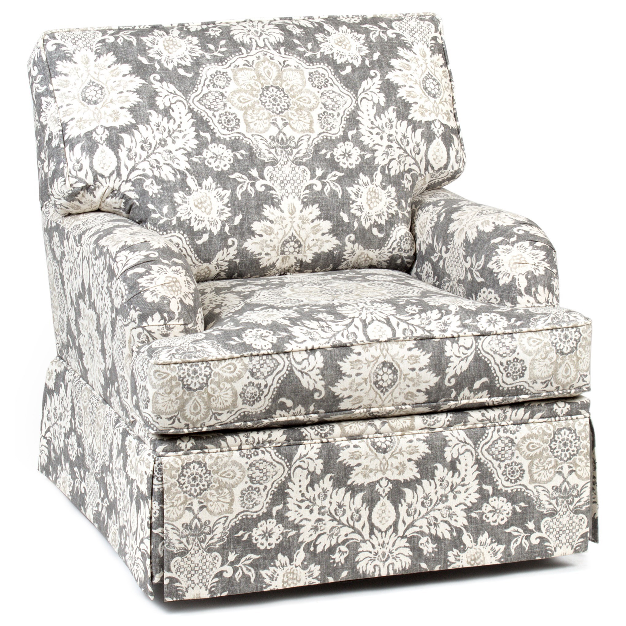 Chairs America Accent Chairs And Ottomans Traditional Skirted Swivel Glider Chair Zak S Home Upholstered Chairs