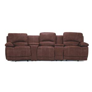 theater chairs with cup holders turquoise desk chair cheers sofa uxw8861m 3 seat leather seating consoles and cupholders
