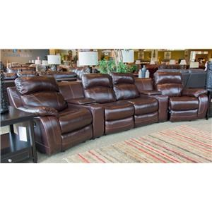 justin ii fabric reclining sectional sofa best budget brands cheers great american home store memphis tn southaven ms luke leather 4 seat theater