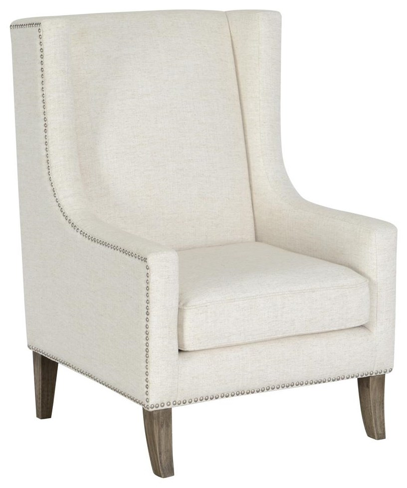 Wood Club Chair Erie Erie Ivory Club Chair By Classic Home Villa Home Collection At Great American Home Store