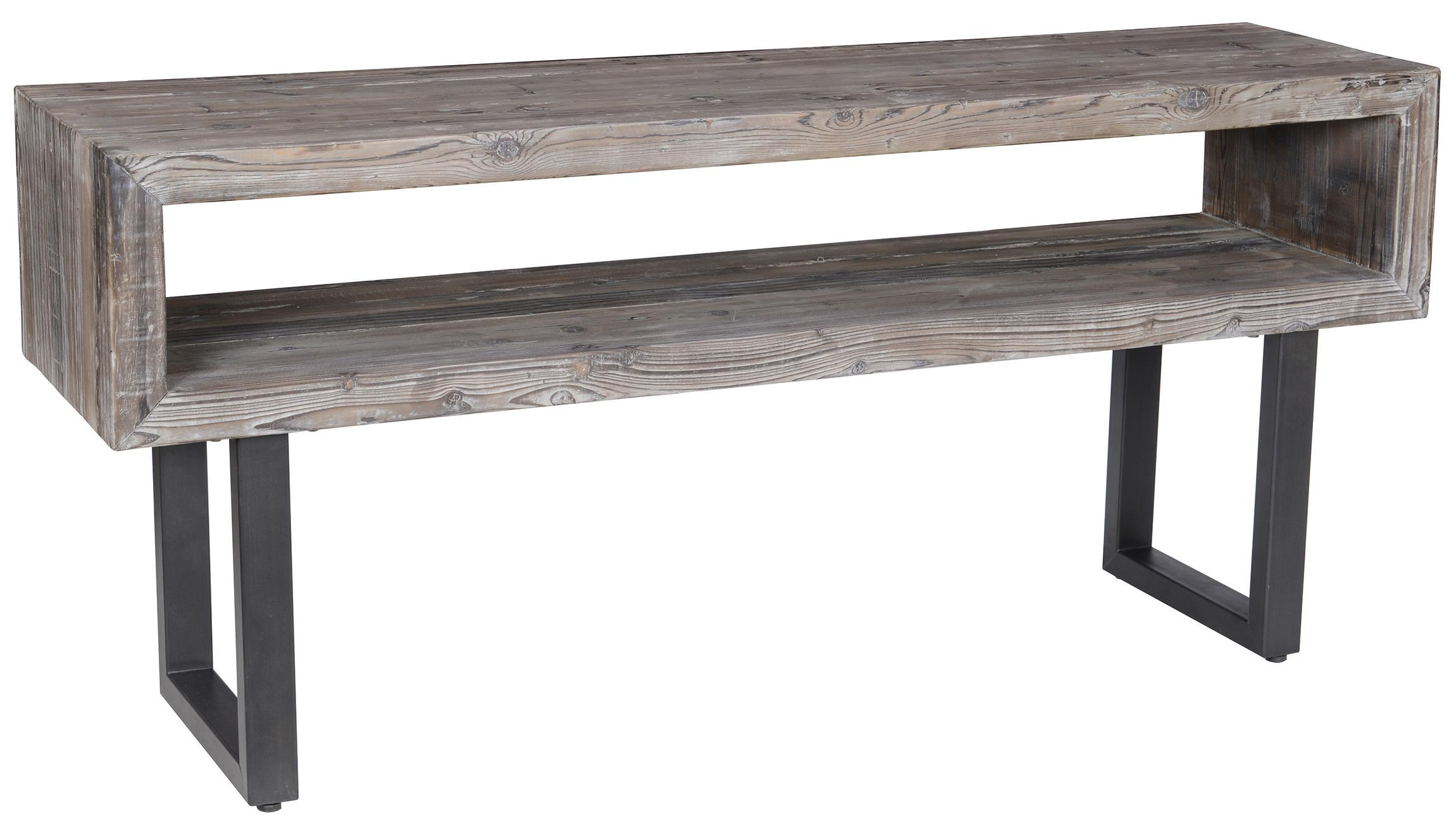 sofa console tables wood simmons beautyrest bed reviews classic home corsica 51030029 table with black metal base