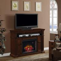Ithaca Fireplace TV Console Mantel & Fireplace Insert with ...