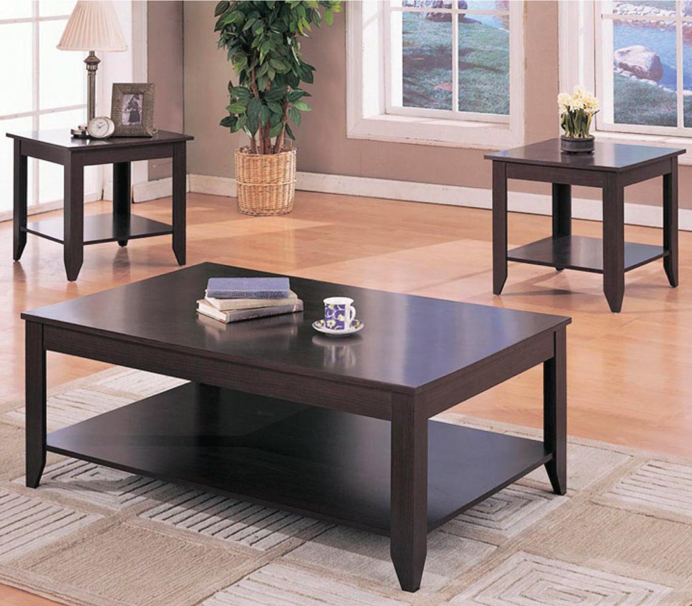 3 piece table set for living room linoleum flooring in coaster occasional sets 700285 contemporary