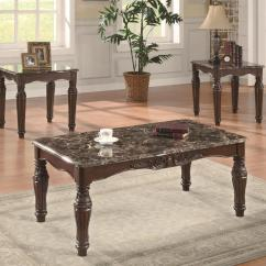 Marble Living Room Table Sets Italian Set Coaster Occasional 701554 3 Piece Traditional Faux